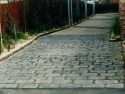 Blue Cobblestone Paving
